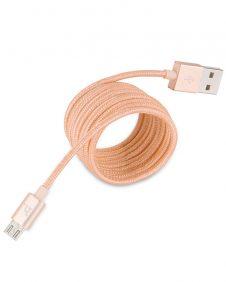 Hoco - UPM05 fémszálas szövet bevonattal  micro USB adat/töltő kábel 120 cm - arany