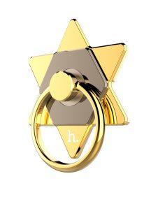 Hoco - CPH05 telefon hátuljára ragasztható újj gyűrű csillag alakú - arany