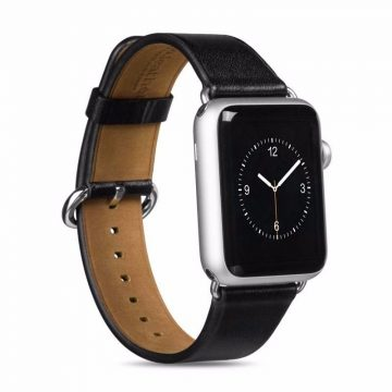 Hoco - Art series borjú bőr óraszíj Apple Watch 42 mm - fekete