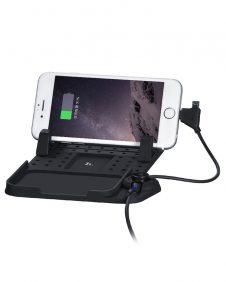 Hoco - CA1 univerzális autós telefon tartó központ 2A töltővel - fekete