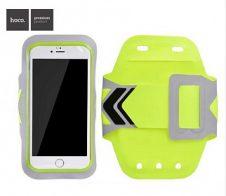Hoco - HS7 felkarra csatolható ultra vékony telefontartó 4,7-5,5 col - fluoreszkáló zöld
