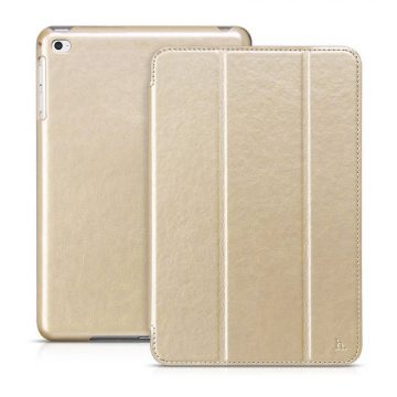 Hoco - Crystal series bőr iPad mini 4 tablet tok - arany