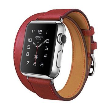 Hoco - Art series Hermes bőr óraszíj Apple Watch 42/44 mm - piros