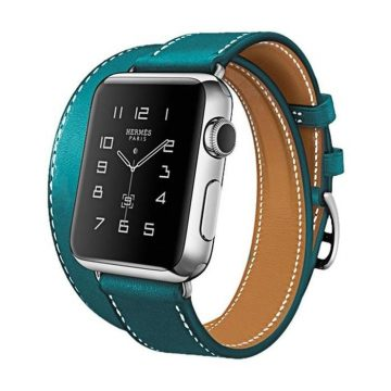 Hoco - Art series Hermes bőr óraszíj Apple Watch 42/44 mm - sötétkék