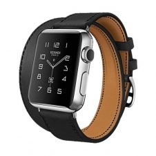Hoco - Art series Hermes bőr óraszíj Apple Watch 38 mm - fekete